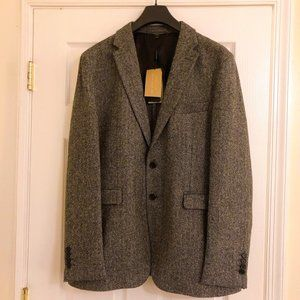 Burberry Slim Fit Herringbone Wool Blazer